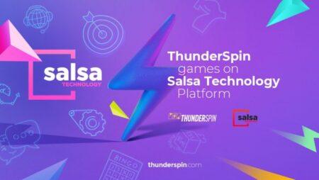 ThunderSpin integrates slot portfolio onto Salsa Technology's game platform