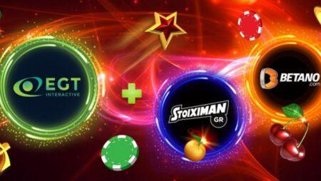 EGT Interactive and Stoiximan/Betano sign new partnership