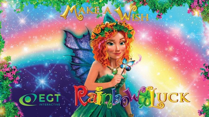 Make a wish! Rainbow Luck, the new video slot from EGT Interactive.