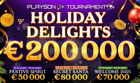 Playson unveils new €200,000 Holiday Delights tournament series
