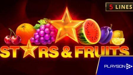Playson announces new online slot Stars & Fruits Double Hit