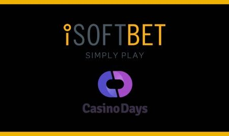 iSoftBet significantly expands games footprint after slots portfolio goes live with Casino Days