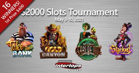 New online slot tournament starts Monday at Intertops Poker