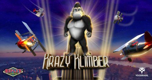 Yggdrasil releases new online slot Krazy Klimber from YG Masters partner Reflex Gaming