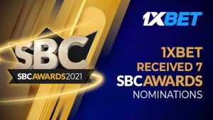 1xBet nominated in 7 categories at SBC Awards 2021