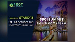 EGT Interactive will join SBC Summit Latinoamérica in Miami